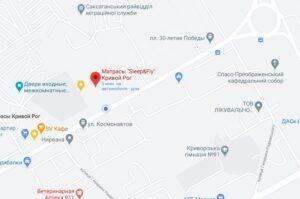 Матрасы Кривой Рог Карта